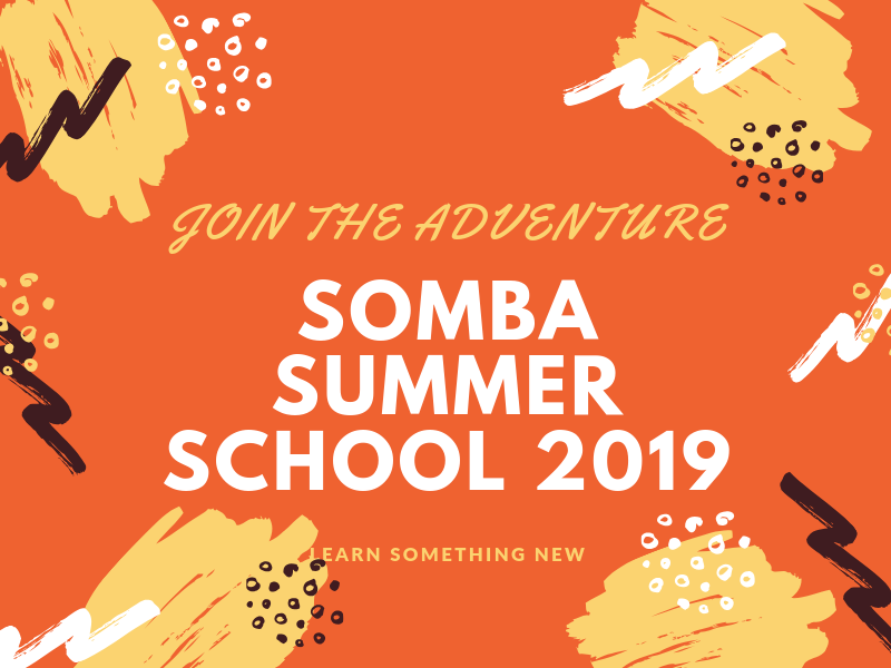 Somba Summer School courses 2019 – that I am IN or would like to participate in.